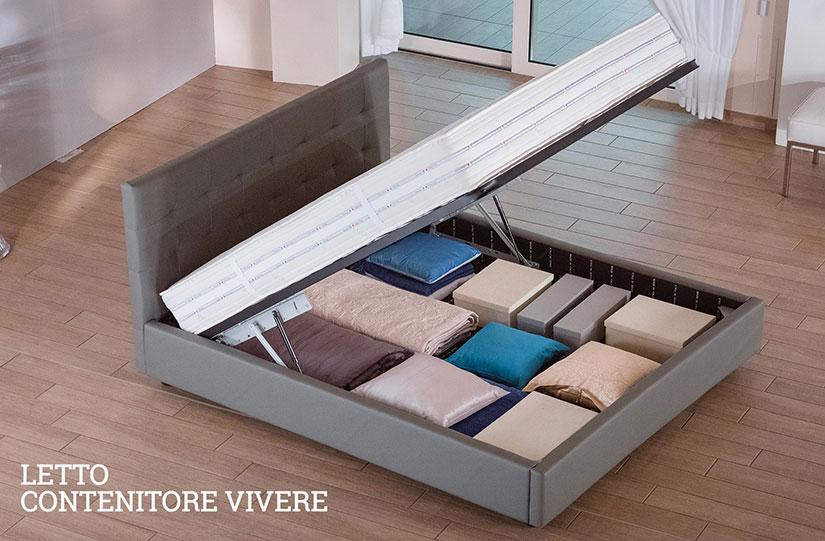 Letto contenitore con doppio sistema di apertura lamantin - Sistema per letto contenitore ...