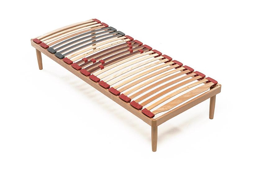 Rete a doghe in legno relax fissa lamantin for Lamantin letti
