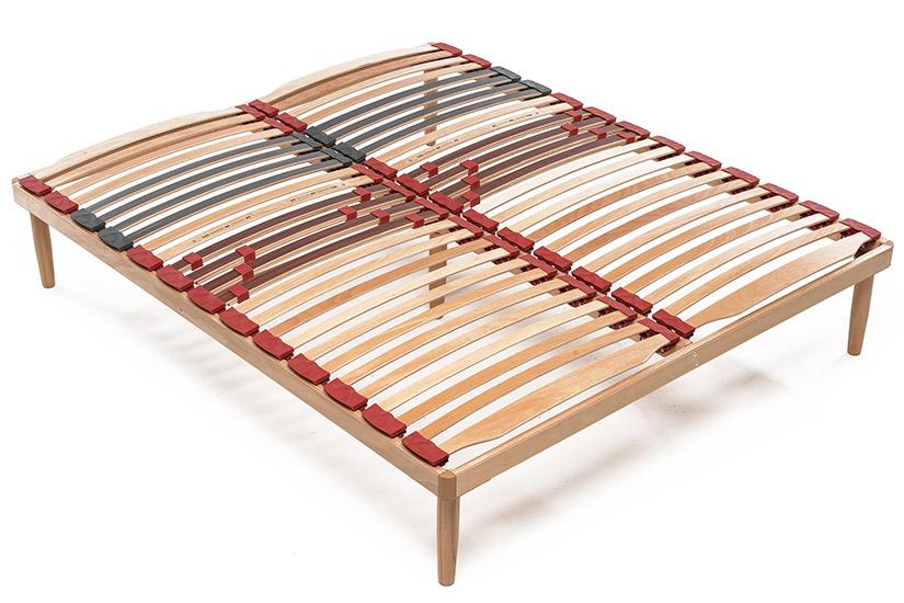 Rete a doghe in legno relax fissa lamantin for Lamantin materassi